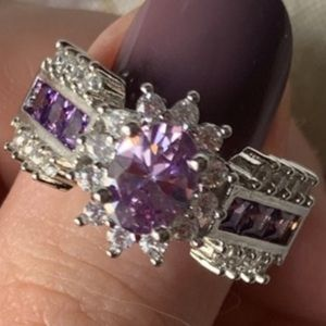 Jewelry - 💥WOW! 925 Sterling Silver Genuine Amethyst Ring💍